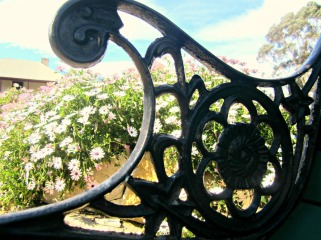 wrought iron flower