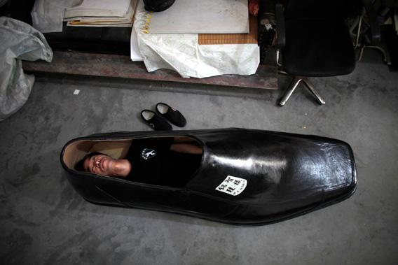 man in shoe